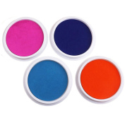 Miraclekoo Jumbo Washable Ink Pads for Rubber Stamps Kids,Set of 4