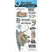 Art Impressions Unmounted Clear Stamps, Reel Great Guys