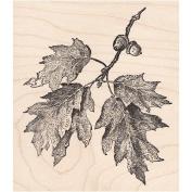 Oak Tree Branch Rubber Stamp