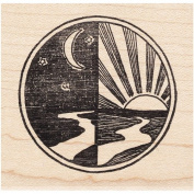 Night/Day Rubber Stamp