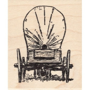 Covered Waggon Rubber Stamp