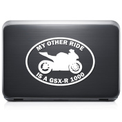 My Other Ride Suzuki Gsx-R1000 Motorcycle Motorbike REMOVABLE Vinyl Decal Sticker For Laptop Tablet Helmet Windows Wall Decor Car Truck Motorcycle - Size (05 Inch / 13 Cm Wide) - Colour