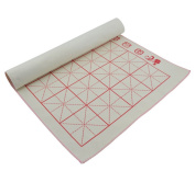 Skyseen 2PCS Chinese Calligraphy Felt Mat Sumi Painting Desk Pad 50cm 70cm - Thick with Grids