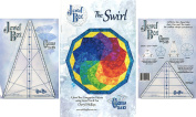 Bundle of Jewel Box Gem Five and Ten (5 & 10), and The Swirl Quilt Pattern