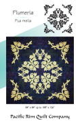 Hawaiian Plumeria Flower Floral Applique Double Full Pacific Rim Quilt Pattern