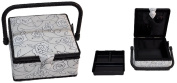 Suzy's Hobby Baskets Small Square Black and White Floral