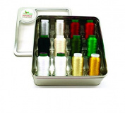 Isacord Holiday Tin, 12 Spools Isacord & Yenmet Thread