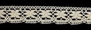 Beige Antique DIY Net Rachel Crochet Lace Ribbon Trimming Bridal Wedding Prom Dress Scalloped Edge 43mm Wide M2743