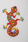 Gecko Crewel Embroidery Kit Fantasy Needle Work Animal Wall Lizard Fabric Art