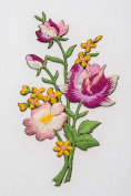 Stump Work Bouquet Crewel Embroidery Flowery Needlecraft Flora Posy Flower Decor