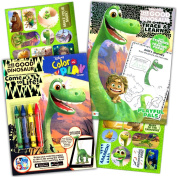 Disney Dinosaur Colouring Book Super Set Kids Toddler -- 2 Books, Crayons and Over 50 Dinosaur Stickers