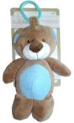 Baby Boys 25cm Plush Teddy Bear Rattle with Clip