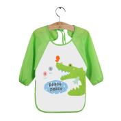 M-Egal Waterproof Newborn Baby Bibs Cartoon Long Sleeve Toddler Feeding Painting Cloths #2