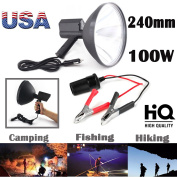 "100W HID 9""Inch 240mm Handheld Lamp 1.5Km Light Distance for Camping Hunting Fishing Spotlight with Battery Conversion Clip – US Stock"