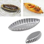 Coohole New Egg Tart Sailing Boat Aluminium Cake Birthday Tin Bakeware Pan Baking Mould, Silver