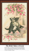 The Bride Takes A Groom, Vintage Counted Cross Stitch Pattern