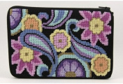 Cosmetic Purse - Paisley - Needlepoint Kit