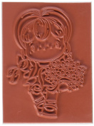 C.C. Designs Swiss Pixie Cling Stamp, 8.3cm by 7cm , Bouquet Birgitta