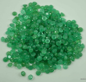 WHOLESALE 5 CTS OF NATURAL EMERALD ROUND 4MM 17PCS, 100% NATURAL NO ENHANCEMENT
