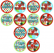 MILESTONES BABY STICKERS, Timeline of Child Milestones, Development Stages, Stickers Baby Shower Gift Photo Shower Stickers Baby Photo Onesie Milestone Stickers