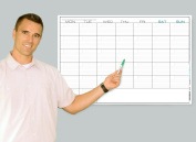 Wet Erase - Large 1 Month Wall Calendar - Monday Start Week - Laminated Horizontal Planner