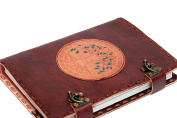 FABIYANO Large Tree Of Life 25cm Leather Journal Two Lock Refillable Diary Thought Book Bound Notebook Travel