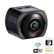 ANTIEE 360 Degree Panoramic Action Camera 2448x2448 30fps Ultra HD DV Camcorder 4K WIFI Control One-Touch Sharing Spherical Lens with 30M Waterproof Depth
