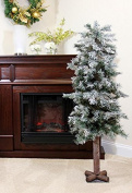 1.5m x 70cm Frosted and Glittered Woodland Alpine Artificial Christmas Tree - Unlit