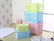 Magshion Plastic Storage Boxes With Lid Baskets Bins Tote Organiser Set Of 5