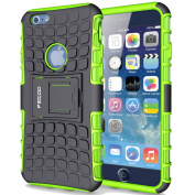 Case for iPhone 6,Pegoo Shockprooof Impact Resistant Hybrid Heavy Duty Dual Layer Armour Hard Plastic and Soft TPU With a Kickstand bumper Protective Cover Case for Apple iPhone 6/6S