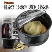 The Elixir Deco Premium Collapsible Pop-Up Dust Cover Hat Bag Organiser Stroage Travel Bag Round Hat Box