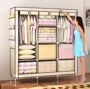 Amanda Home Portable Clothes Closet Non-woven Fabric Wardrobe Storage Organiser (Colour