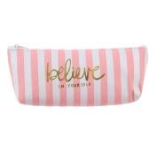 Hosaire Pencil Case Canvas Pen Case Stationery Pouch Bag Case Cosmetic Bags