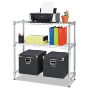 Residential Wire Shelving, Three-Shelf, 36w x 14d x 36h, Silver, Sold as 1 Each