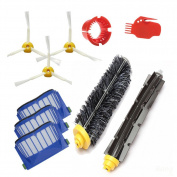 Bluepillows Replacement Accessory for Irobot Roomba 595 600 610 620 630 640 645 650 655 660 Replenishment Kit 10Pcs 600 Series High-efficient Replacement Brushes Kit