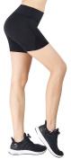 Zinmore Women's Girls Yoga Shorts Exercise Running Shorts Workout Pants 12cm Inseam