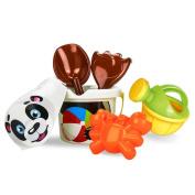 Leegor 1 Set Kids Cartoon Beach Toys Outdoor Sandbeach Castle Bucket Spade Shovel Rake Sieve Tray Water Tools Bathtub Plaything