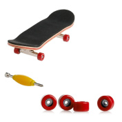 cici store Maple Wood Deck Fingerboard Skateboard with Red Wheels Sport Games Kids Novelty Toys Gift