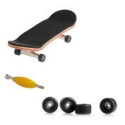 cici store Maple Wood Deck Fingerboard Skateboard with Black Wheels Sport Games Kids Novelty Toys Gift