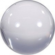 """Clear Acrylic Contact Juggling Ball - 2.75"""" - 70mm"""