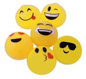 Squishy Sticky Splat Emoji Ball, Fun Stress Balls Pack Of 12 Emoticon Splat Balls