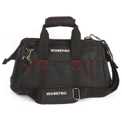 WORKPRO 41cm Wide Mouth Tool Bag with Water Proof Rubber Base by WorkPro