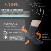 3 Pack 6 Pack Sport Plantar Fasciitis Arch Support Low Cut Running Gym Compression Foot Socks / Foot Sleeves