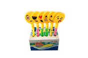 30cm Emoji Bubble Wands Hand Clappers Emoji Party Favours - 12 Pack Emoticon Outdoor Party Toys
