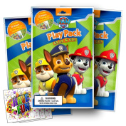 Paw Patrol Colouring Pack Party Favours with Stickers, Crayons and Colouring Activity Book in a Resealable Pouch Bundled With 3 Separately Licenced GWW Prize Reward Stickers