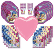 Shimmer and Shine Birthday Party Supplies Bundle Pack for 16