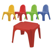 Starplay Keren Kids Play Table & 4 Chairs Primary Colours