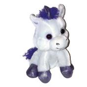 Purple and White Unicorn Pegasus Plush Stuffed Animal 28cm Teddy Bear Toy Doll