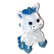 Blue and White Unicorn Pegasus Plush Stuffed Animal 28cm Teddy Bear Toy Doll