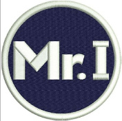 "TIGERS PATCH MIKE ILITCH ""MR. I"" MEMORIAL PATCH ON-FIELD NAVY BLUE W/WHITE EMBROIDERY"
